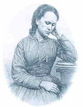 picture of a woman, 1850s